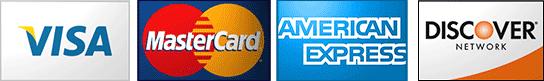Visa, Master Card, American Express, Discover