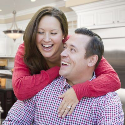 Happy Laughing Affectionate Couple