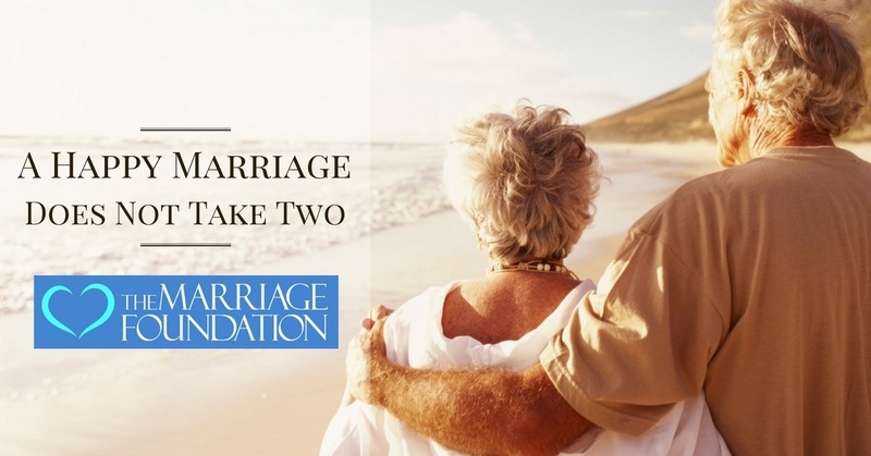 A Happy Marriage Does Not Take Two
